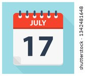 july 17   calendar icon  ... | Shutterstock .eps vector #1342481648