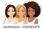 multiethnic women. three... | Shutterstock .eps vector #1342481675
