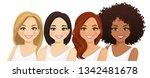 multiethnic women  different... | Shutterstock .eps vector #1342481678