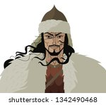 attila the hun ancient warrior   Shutterstock .eps vector #1342490468