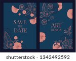 flower card or cover set.... | Shutterstock .eps vector #1342492592