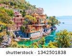beautiful sea coast with...   Shutterstock . vector #1342501838