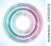 geometric frame from circles ... | Shutterstock .eps vector #1342514315