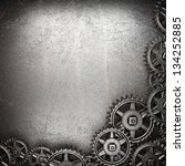 gear wheels on steel background | Shutterstock . vector #134252885