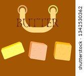 vector yellow stick of butter.... | Shutterstock .eps vector #1342530362