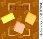 vector yellow stick of butter.... | Shutterstock .eps vector #1342530368