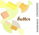vector yellow stick of butter.... | Shutterstock .eps vector #1342530392