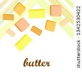vector yellow stick of butter.... | Shutterstock .eps vector #1342530422