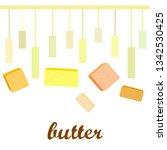 vector yellow stick of butter.... | Shutterstock .eps vector #1342530425