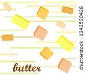 vector yellow stick of butter.... | Shutterstock .eps vector #1342530428