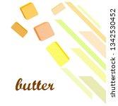 vector yellow stick of butter.... | Shutterstock .eps vector #1342530452