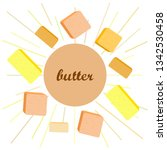 vector yellow stick of butter.... | Shutterstock .eps vector #1342530458