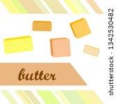 vector yellow stick of butter.... | Shutterstock .eps vector #1342530482