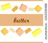 vector yellow stick of butter.... | Shutterstock .eps vector #1342530488