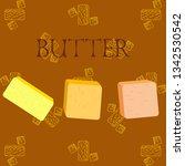 vector yellow stick of butter.... | Shutterstock .eps vector #1342530542