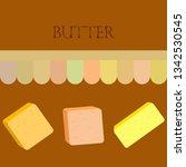 vector yellow stick of butter.... | Shutterstock .eps vector #1342530545