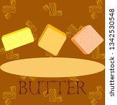 vector yellow stick of butter.... | Shutterstock .eps vector #1342530548