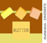 vector yellow stick of butter.... | Shutterstock .eps vector #1342530572