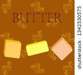 vector yellow stick of butter.... | Shutterstock .eps vector #1342530575