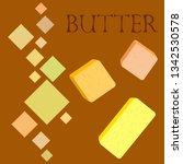 vector yellow stick of butter.... | Shutterstock .eps vector #1342530578