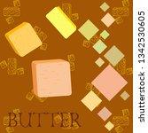 vector yellow stick of butter.... | Shutterstock .eps vector #1342530605