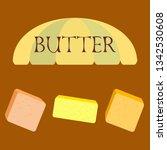 vector yellow stick of butter.... | Shutterstock .eps vector #1342530608