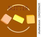 vector yellow stick of butter.... | Shutterstock .eps vector #1342530635