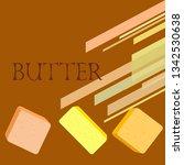 vector yellow stick of butter.... | Shutterstock .eps vector #1342530638
