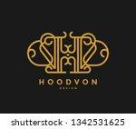 letter hd logo monogram style   Shutterstock .eps vector #1342531625