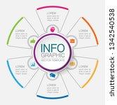 vector infographic template for ... | Shutterstock .eps vector #1342540538