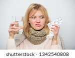 hate to be ill. ill woman... | Shutterstock . vector #1342540808