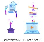 educational icon set. man with... | Shutterstock .eps vector #1342547258