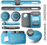 web designing element set | Shutterstock .eps vector #134255222