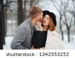 the guy and the girl are...   Shutterstock . vector #1342553252