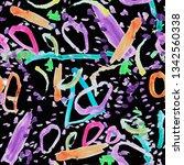 abstract geometric figures of... | Shutterstock . vector #1342560338