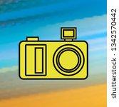 camera mono color icon. simple...