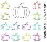 pumpkin multi color icon....