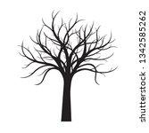 black naked tree white... | Shutterstock .eps vector #1342585262