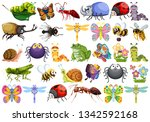 set of insect character... | Shutterstock .eps vector #1342592168