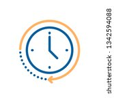 clock icon with circular motion ... | Shutterstock .eps vector #1342594088