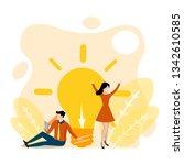 business idea concept.people... | Shutterstock .eps vector #1342610585