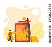 money saving money glass vector ... | Shutterstock .eps vector #1342610588