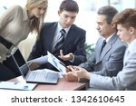 businessman discussing with the ... | Shutterstock . vector #1342610645