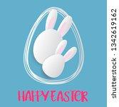 easter card with  easter egg... | Shutterstock .eps vector #1342619162