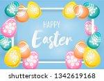easter sale banner  flyer... | Shutterstock .eps vector #1342619168