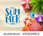 it's summer time vector... | Shutterstock .eps vector #1342620812