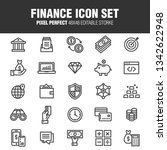 a set of finance icons.... | Shutterstock .eps vector #1342622948