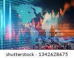 financial stock market graph on ...   Shutterstock . vector #1342628675