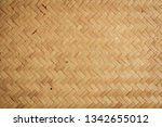 bamboo weaved texture and... | Shutterstock . vector #1342655012