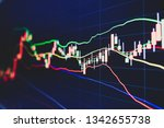 stock market trading graph and... | Shutterstock . vector #1342655738